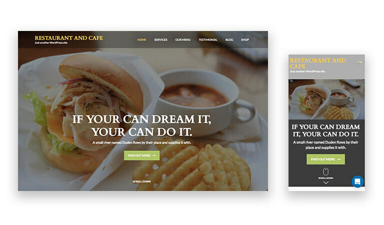 Restaurant and Cafeテーマ
